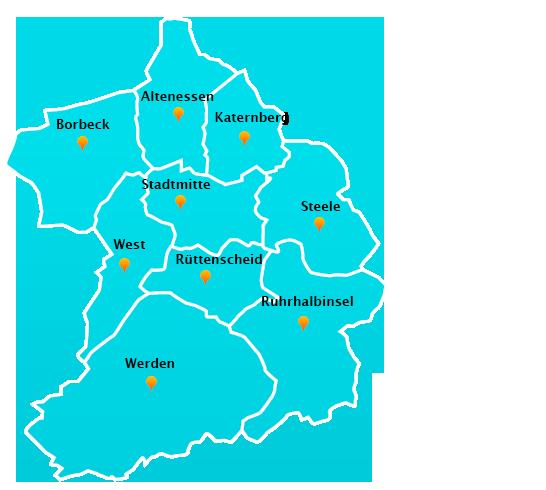 Gartenpflege-Touren Stadtteile Essen
